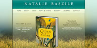 website design for Natalie Baszile