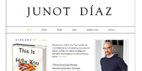 junot diaz website design