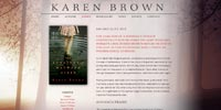 Karen Brown author website design