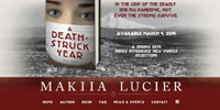 website design for Makiia Lucier